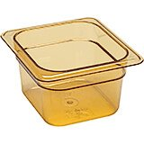 "Amber, 1/6 GN High Heat Food Pan, 4"" Deep, 6/PK"