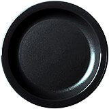 "Black, 6-9/16"" Narrow Rim Plate, Unbreakable Dinnerware, 48/PK"