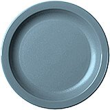 "Slate Blue, 6-9/16"" Narrow Rim Plate, Unbreakable Dinnerware, 48/PK"