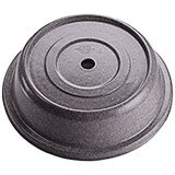 "Granite Gray, 10-7/8"" Fiberglass Plate Covers, 12/PK"