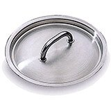 Stainless Steel, Lid For Matfer Pans And Pots #18, 7.12""