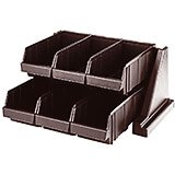 Dark Brown, Condiment Holder with 6 Bins