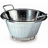 "Stainless Steel, Conical Colander, 12.5"" Diam."