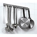 Stainless Steel, Utensil And Pot Hanger, Wall Mounted Rail