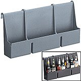 Granite Gray, 7 Bottle Speed Rail for Cambro Bars