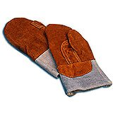 Leather Heat Resistant Oven Mitts, 4""