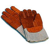 Leather Heat Resistant Oven Gloves, 4""