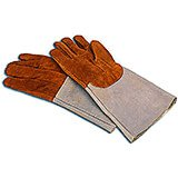 Leather Heat Resistant Oven Gloves, 7.75""