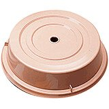 "Beige, 10-5/8"" Polycarbonate Plate Covers, 12/PK"