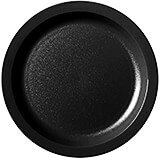"Black, 8-1/4"" Narrow Rim Plate, Unbreakable Dinnerware, 48/PK"