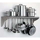 Stainless Steel, Utensil And Pot Hanger, Wall Mounted Shelf
