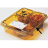 Amber, Heat Resistant Snap-On Cover Lid, 24/PK