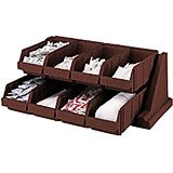 Dark Brown, Condiment Holder with 8 Bins