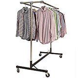 "Black, Gemini Heavy Duty H-Rack, Clothes Rack, Double Rail W/ 60"" Uprights"