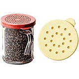 Clear, Shakers / Dredger, Cheese Lid, 12/PK