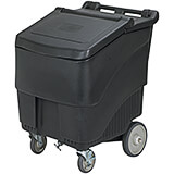 Black, Polypropylene ConServ Commercial Ice Bin, 125 Lbs. Capacity