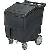 Black, Polypropylene ConServ Commercial Ice Bin, 125 Lbs. Capacity