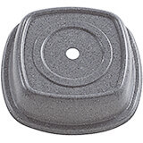 "Granite Gray, 11-1/8"" Square Steelite Distinction Metro Plate Covers, 12/PK"