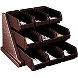 Dark Brown, Condiment Holder with 9 Bins