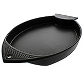 Black, Cast Iron Fish Grill, 11.87""