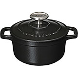 Black, Cast Iron Round Dutch Oven, 1.75 Qt