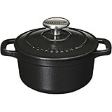 Black, Cast Iron Round Dutch Oven, 2.5 Qt