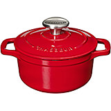 Red, Cast Iron Round Dutch Oven, 2 Qt