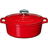 Red, Cast Iron Oval Dutch Oven, 3.5 Qt