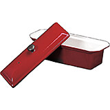 Red, Cast Iron Pate Rectangular Terrine Mold 1.25 Qt
