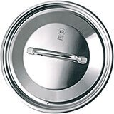 Stainless Steel, 18/10 Steel Lid For Catering Cookware, Dim: 9.44""