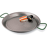 Blue Steel Paella Pan, Polished, 23.62""