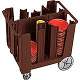 Dark Brown, Adjustable Dish Caddy