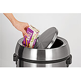 Stainless Steel Replacement Swivel Trash Can Cover for 470-65L