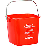 Red, Plastic 3 Qt. Cleaning Bucket / Pail