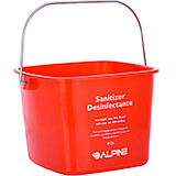 Red, Polyethylene 8 Qt. Cleaning Bucket / Pail