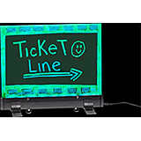"""Black, LED Flashing Erasable Message Board with Acrylic Writing Panel and Aluminum Stand 9"""" X 12"""""""