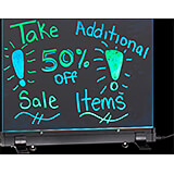 """Black, LED Flashing Erasable Message Board with Acrylic Writing Panel and Aluminum Stand 12"""" X 16"""""""