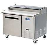 Stainless Steel, Single Door Refrigerated Pizza Prep Table