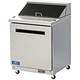Stainless Steel, Single Door Mega-top Sandwich / Salad Prep Table, 6.5 Cu Ft
