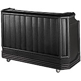 Black, Portable Bar with Sealed-In Cold Plate