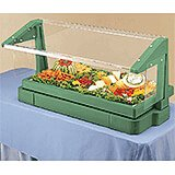 Green, 4ft Table Top Buffet Bar with Sneeze Guard