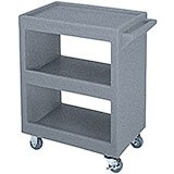 "Granite Gray, 28"" x 16"" Service Cart, Open, 4 Swivel Casters"