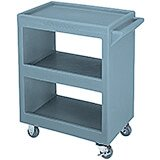 "Slate Blue, 28"" x 16"" Service Cart, Open"
