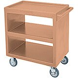"Coffee Beige, 33-1/4"" x 20"" Service Cart, Open, 4 Swivel Casters"