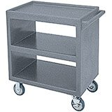 "Granite Gray, 33-1/4"" x 20"" Service Cart, Open"