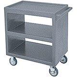 "Granite Gray, 33-1/4"" x 20"" Service Cart, Open"