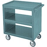 "Granite Green, 33-1/4"" x 20"" Service Cart, Open, 4 Swivel Casters"