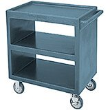 "Slate Blue, 33-1/4"" x 20"" Service Cart, Open, 4 Swivel Casters"