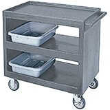 "Granite Gray, 37-1/4"" x 21-1/2"" Service Cart, Open"