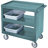 "Granite Green, 37-1/4"" x 21-1/2"" Service Cart, Open, 4 Swivel Casters"